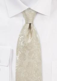 Kids Silk Tie in Golden Champagne