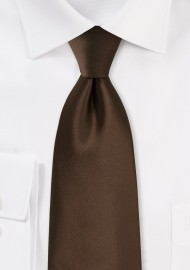 Solid color ties - Coffe brown necktie