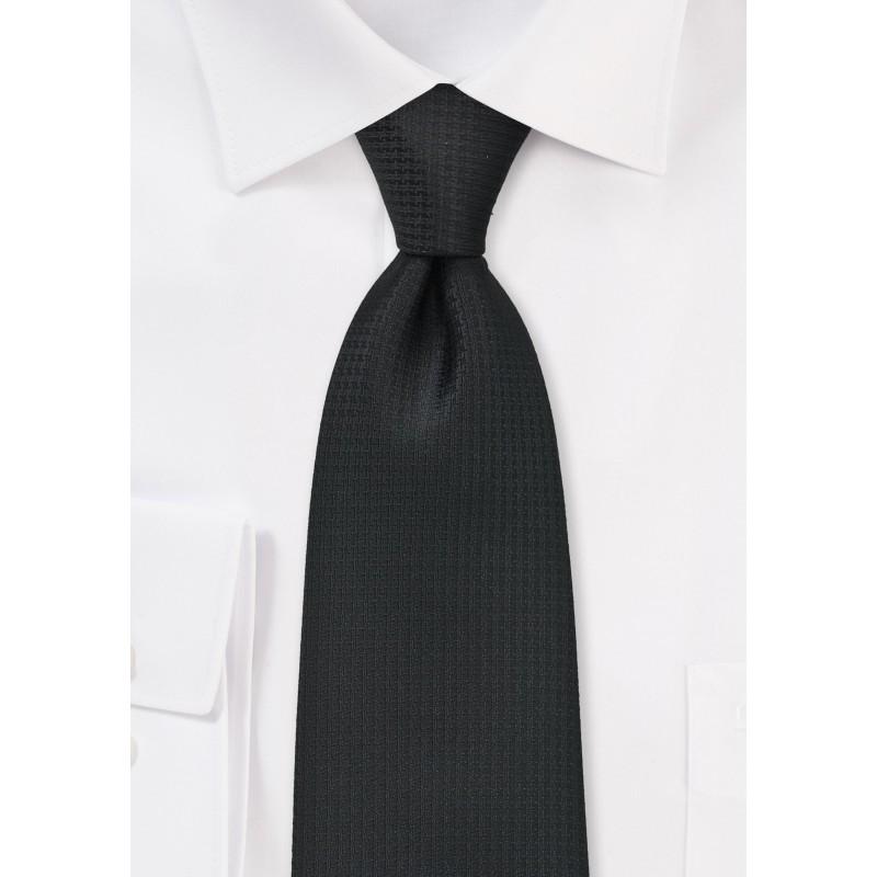 Modern and Textured Black Tie