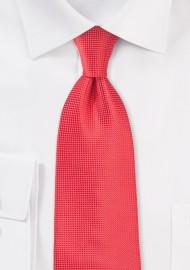 Extra Long Coral Color Necktie