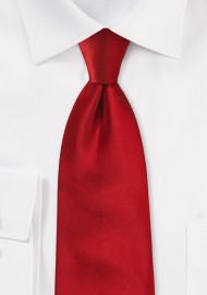 Extra long ties - Bright red XL necktie