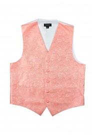 Wedding Paisley Vest in Bellini