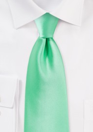Bright Mint Colored Tie in Long Length