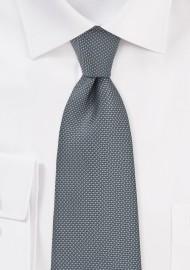 Matte Textured Mens Tie in Gray