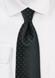 Jet Black Polka Dot Necktie