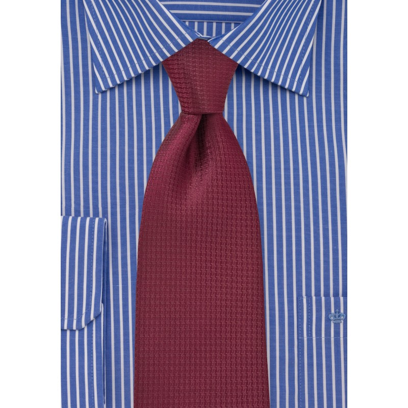 Merlot Red Tie in XL Length
