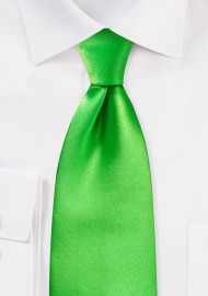 Tie in Kelly Green
