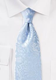 Sky Blue XL Paisley Tie
