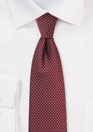 Skinny Pin Dot Necktie in...
