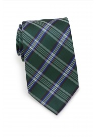 Forest Green Tartan Plaid Tie