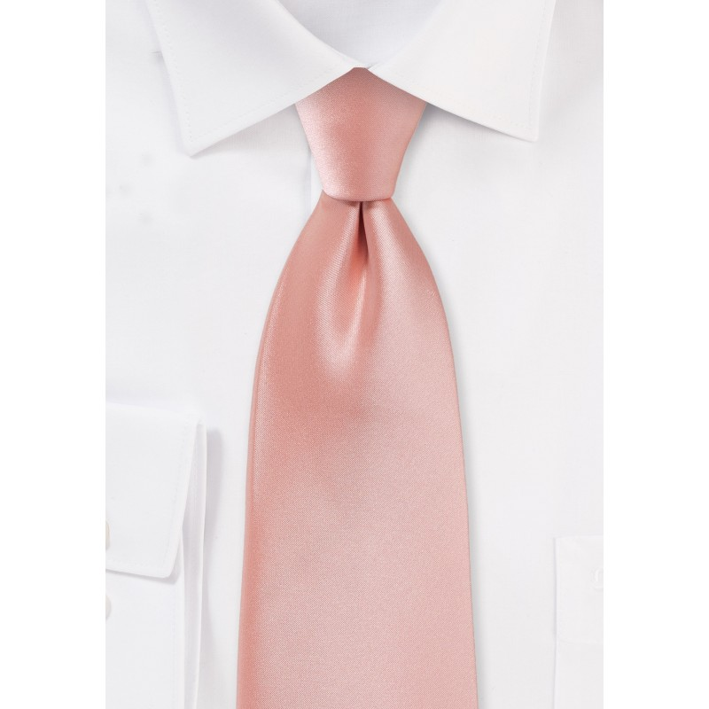 Candy Pink Color Tie in XL Length