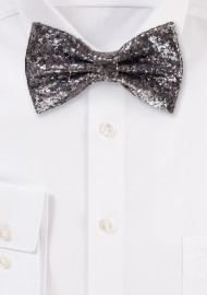 Lilac Glitter Bow Tie silver gray metallic bowties