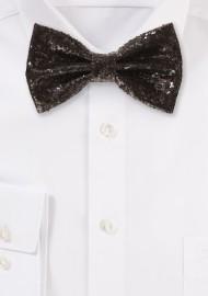 Black Glitter Bow Tie