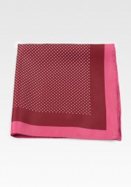 Red Spice Colored Suit Hanky with Printed Pin Dots