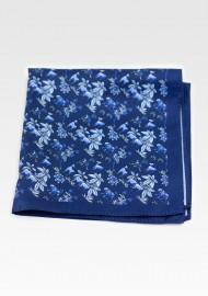 Wild Jungle Print Pocket Square in Blue