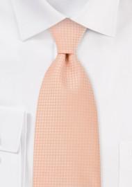 Light Orange Mens Tie in XL Length