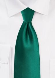 Hunter Green Tie in Solid Color Design