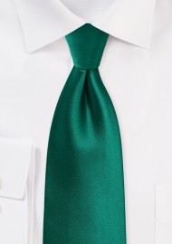 Hunter Green Tie in Solid Color Design