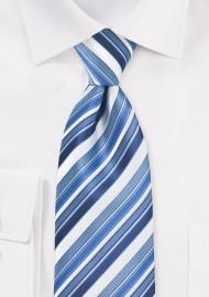 Tonal Blue Striped Tie