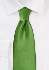 Clover Green Tie in XL Length