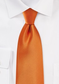 Tangerine Colored Tie in XL Length
