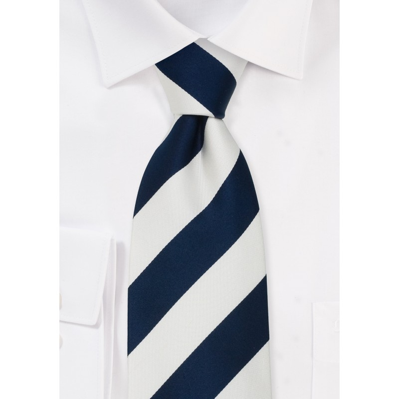 """Preppy Extra Long Ties - Striped Tie """"Lighthouse"""" by Parsley"""