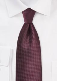 Textured Necktie in Port Red