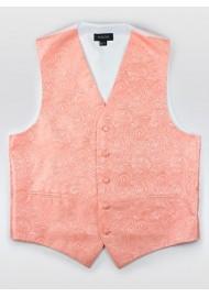 Paisley Formal Vest in Bellini
