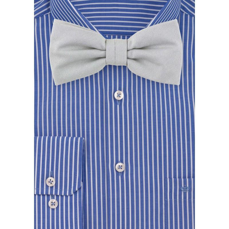 Matte Gray Cotton Bow Tie