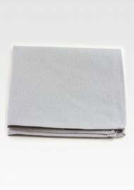 Matte Gray Pocket Square in Cotton