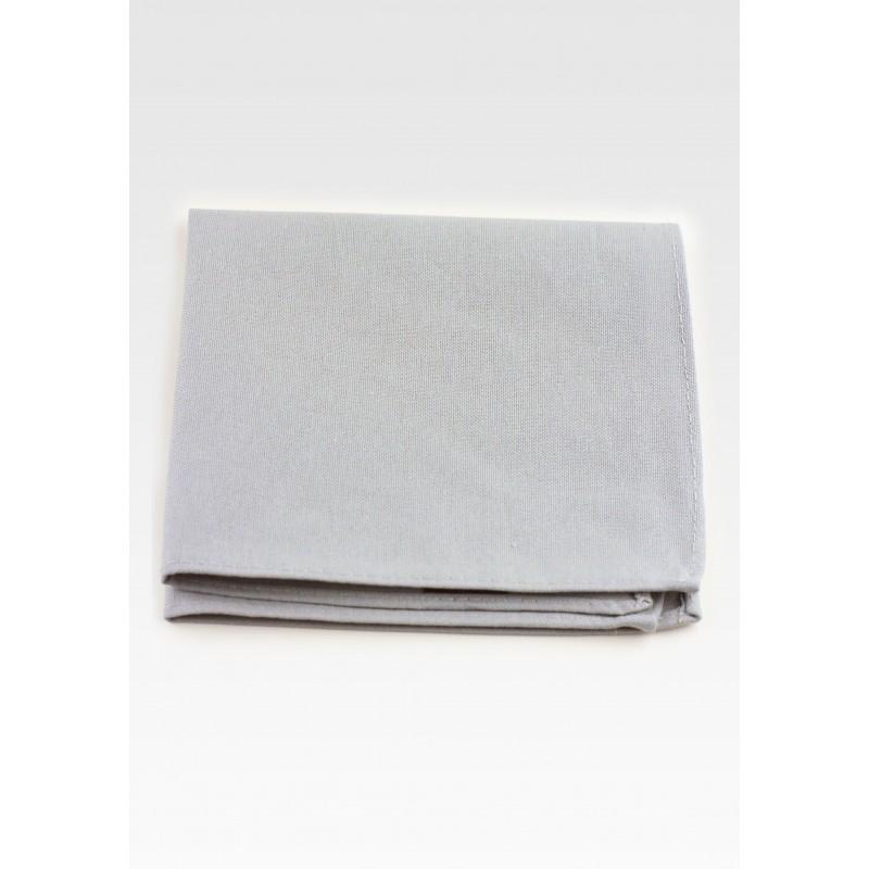 Matte Gray Pocket Square in Cotton