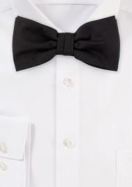 Matte Black Solid Color Bow Tie