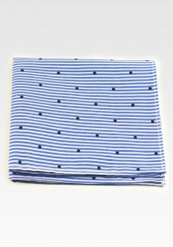 Striped Cotton Hanky with Polka Dot Print