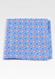 Light Blue Hanky with...