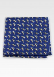 Navy Bow Tie with Fox Hounds