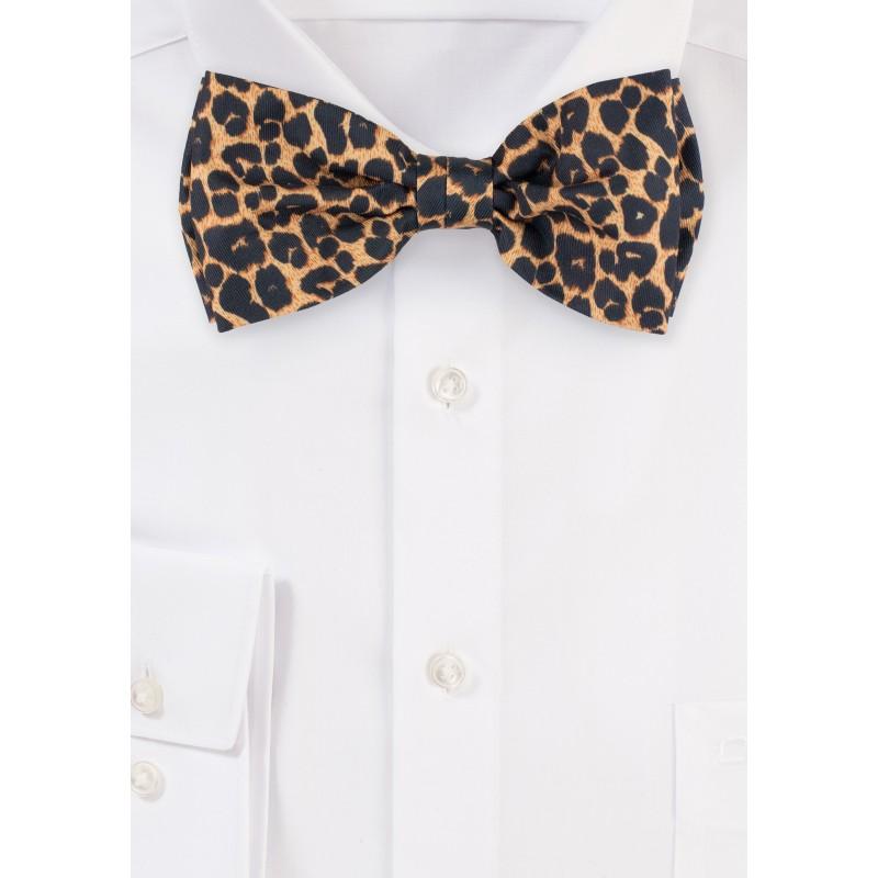 Leppard Print Bow Tie