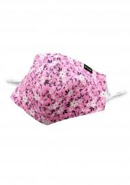 Pink Summer Flower Print Face Mask