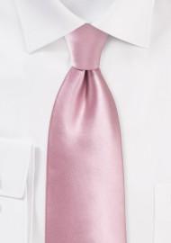 Dusty Rose Tie in XL Length
