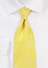 Kid Size Paisley Tie in Frosted Citrus
