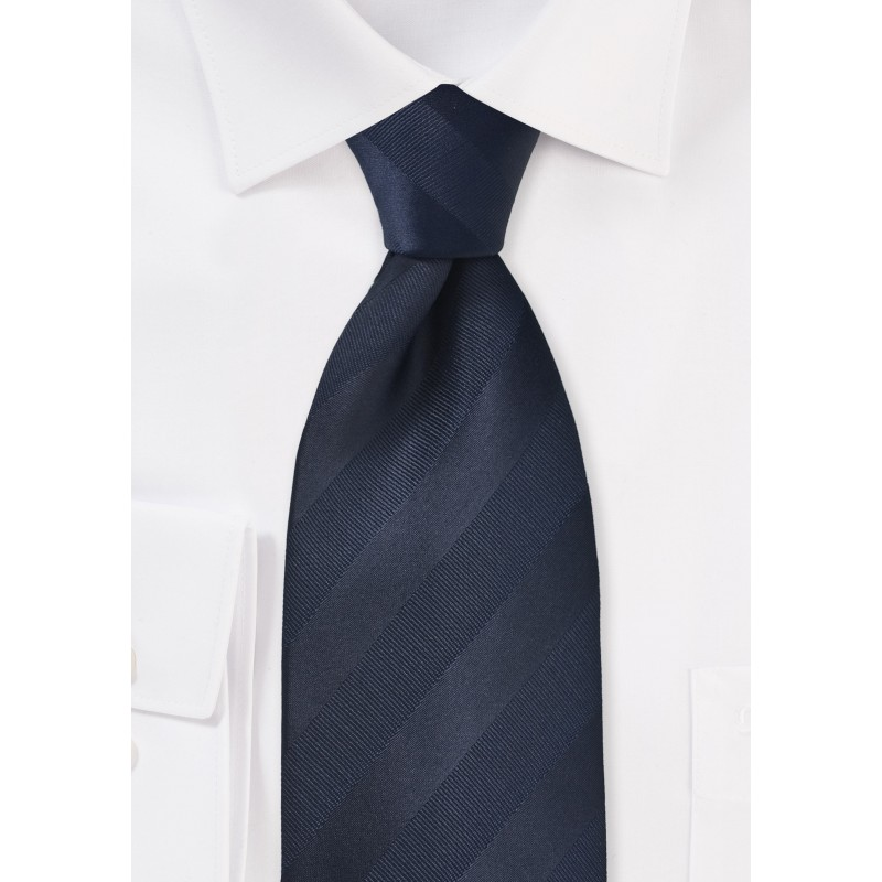 Striped Tie in Midnight Blue