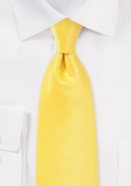 Bold Colored Kids Tie in Sunbeam Yellow