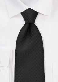 Monochromatic Black Tie in XL Length