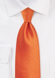 Solid XL Length Tie in Carrot