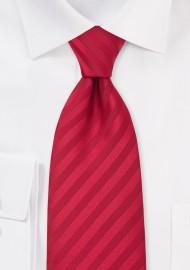 Kids Striped Tie in Cherry