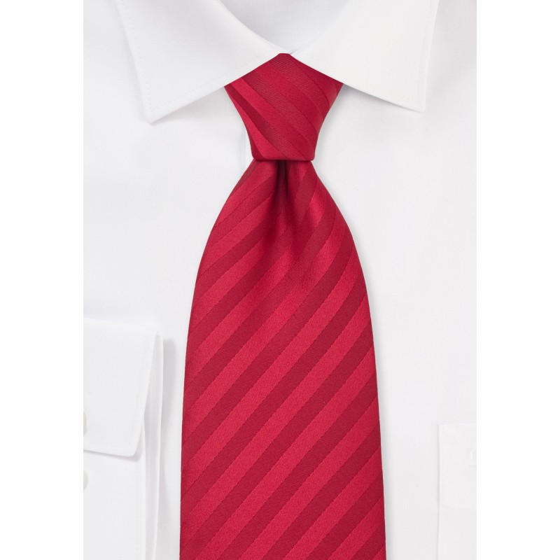 Solid Cherry Red Mens Power Tie