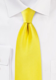 Canary Yellow Kids Sized Tie