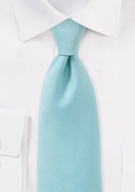 Pale Aqua Blue Tie in XL Length