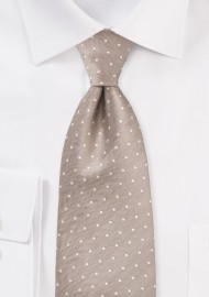 Kids Sized Polka Dot Tie in Fawn
