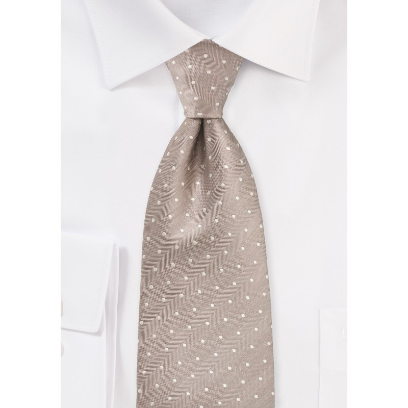 Cultured Polka Dot Tie in Fawn