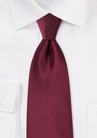 Claret Red Colored Men's Tie